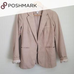 Kenar blush pink linen blazer